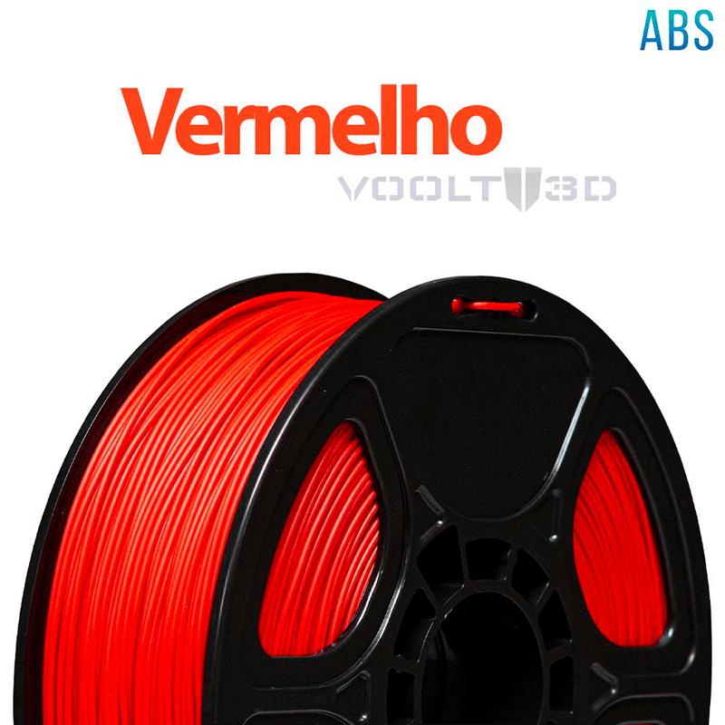 FILAMENTO ABS - VERMELHO - 1,75 MM - 1KG