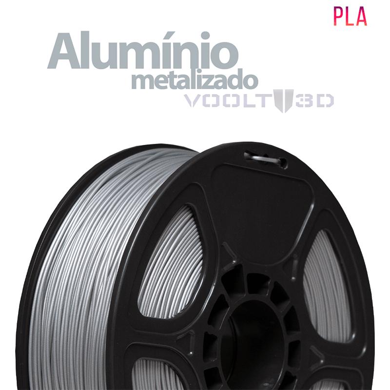 FILAMENTO IMPRESSORA 3D - ALUMÍNIO METALIZADO