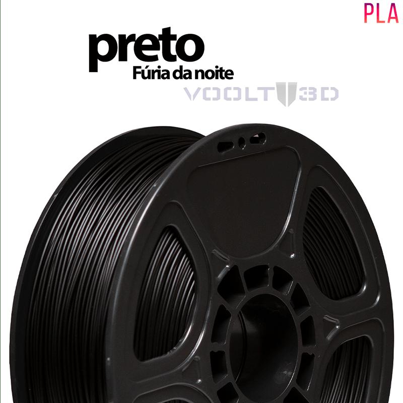FILAMENTO IMPRESSORA 3D - PRETO FÚRIA DA NOITE