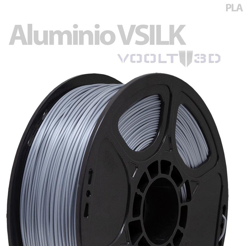 FILAMENTO PLA VSILK - ALUMÍNIO - 1,75 MM - 1KG