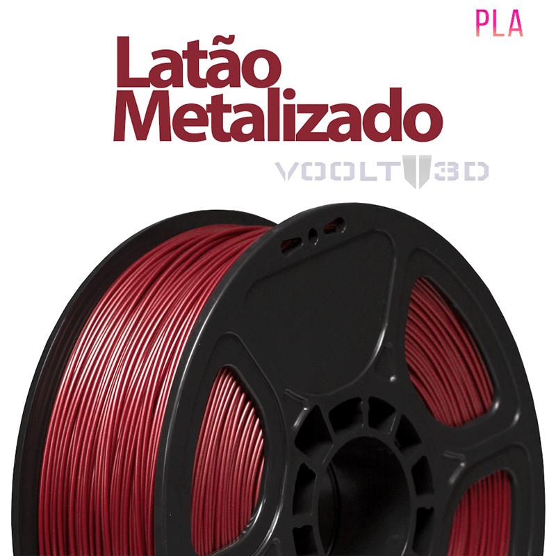 FILAMENTO IMPRESSORA 3D - LATÃO METALIZADO