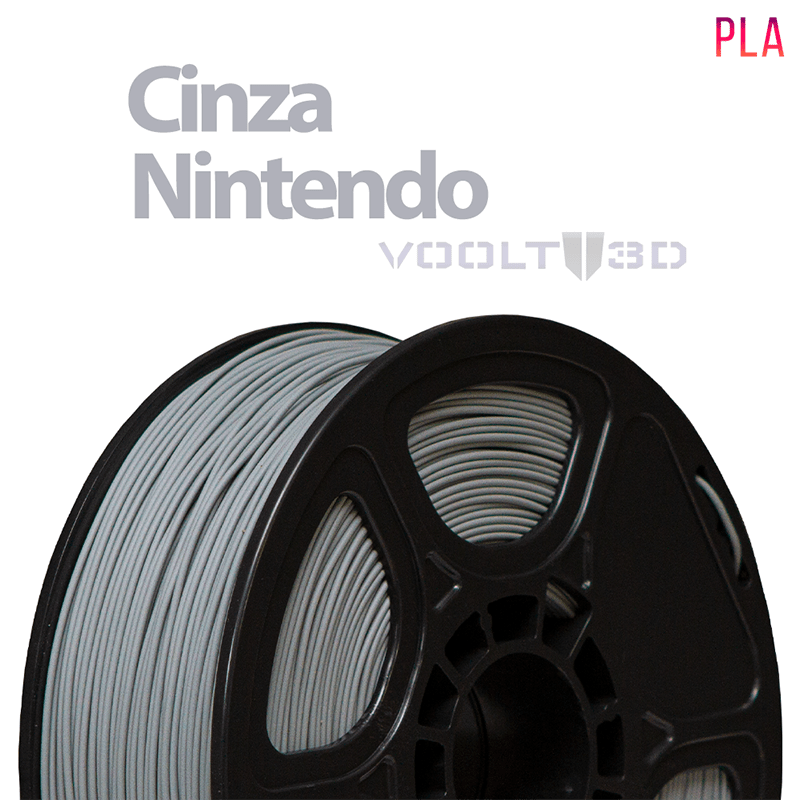 FILAMENTO IMPRESSORA 3D - CINZA NINTENDO