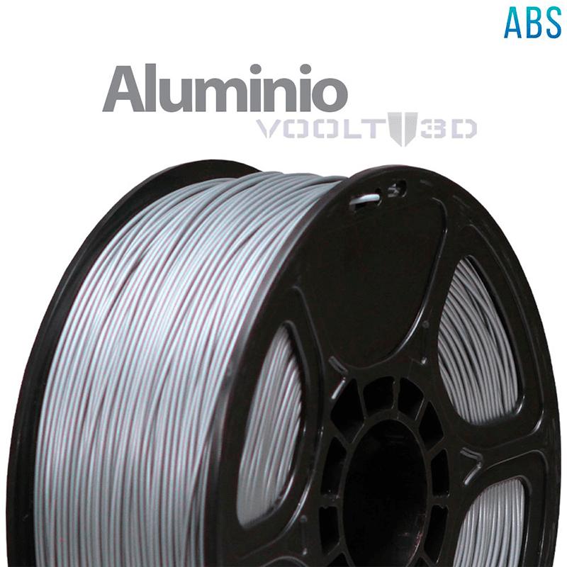 FILAMENTO ABS - ALUMÍNIO - 1,75 MM - 1KG