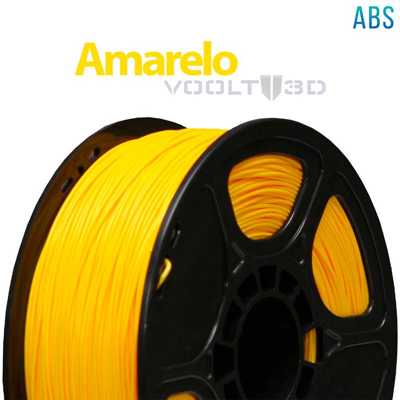 FILAMENTO ABS - AMARELO - 1,75 MM - 1KG