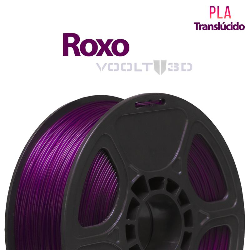 FILAMENTO IMPRESSORA 3D - ROXO TRANSLÚCIDO