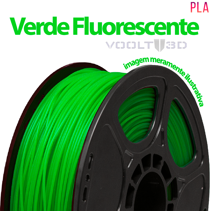 FILAMENTO IMPRESSORA 3D - VERDE FLUORESCENTE