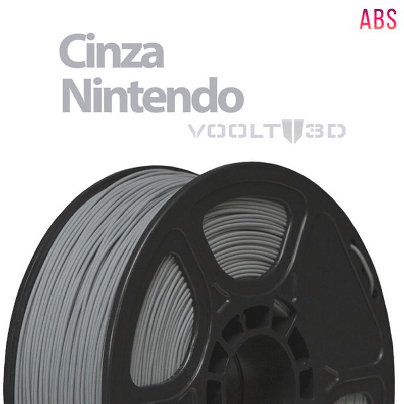 FILAMENTO ABS - CINZA NINTENDO - 1,75 MM - 1KG