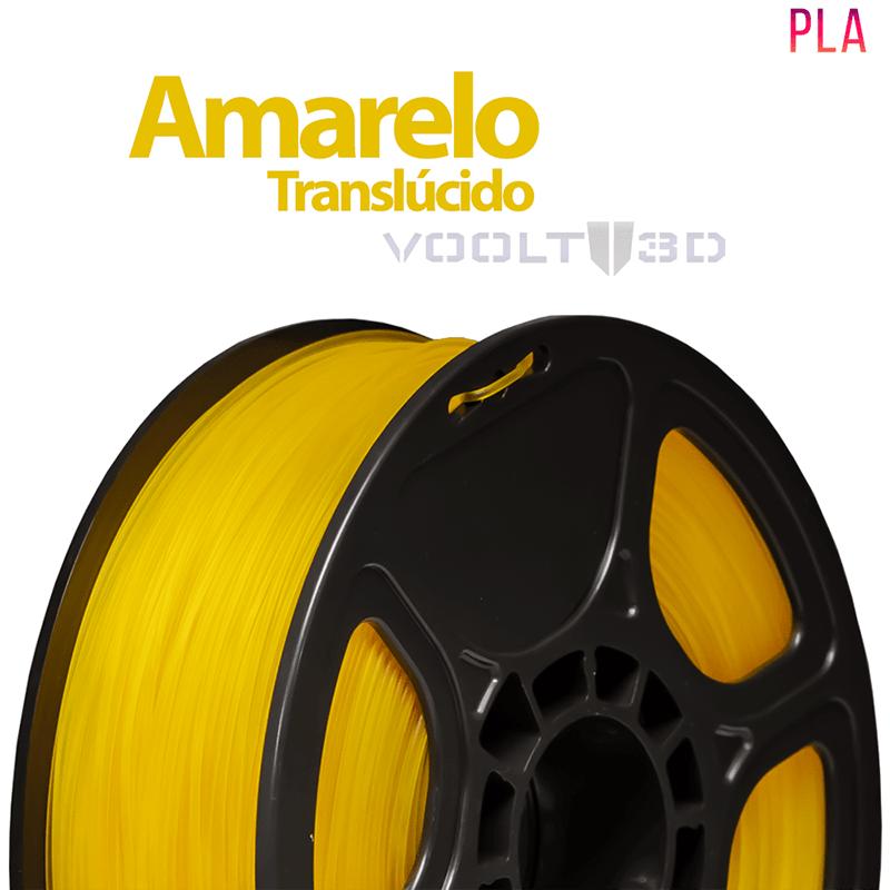FILAMENTO IMPRESSORA 3D - AMARELO TRANSLÚCIDO